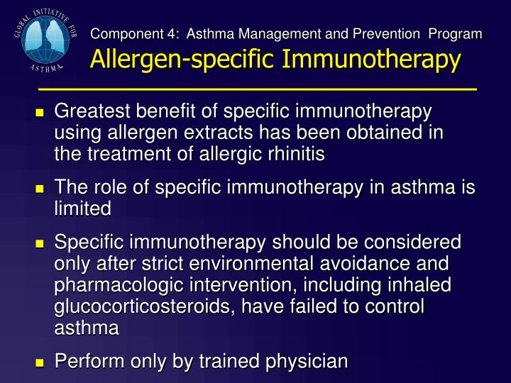 Component 4:  Asthma Management and Prevention