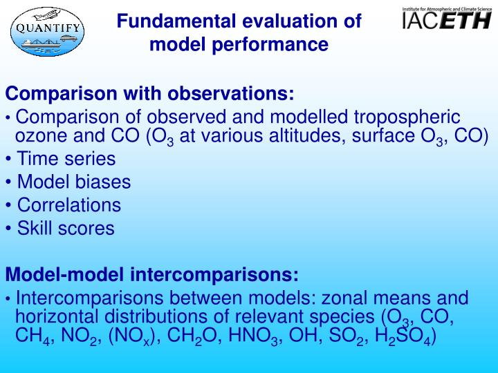 Fundamental evaluation of model performance