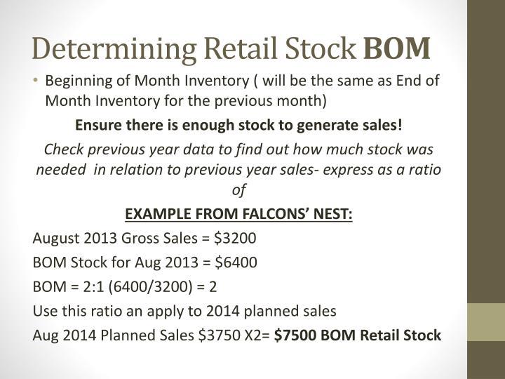 Determining Retail Stock