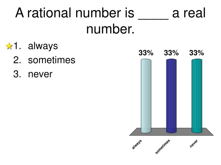 A rational number is ____ a real number.