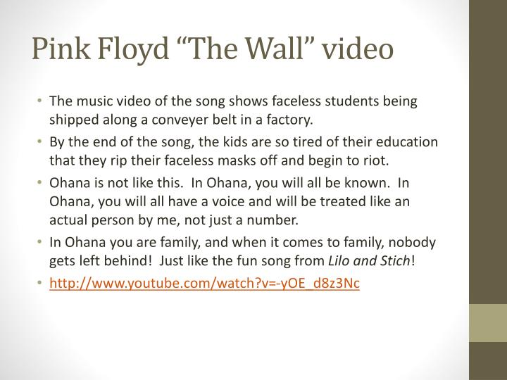 "Pink Floyd ""The Wall"" video"