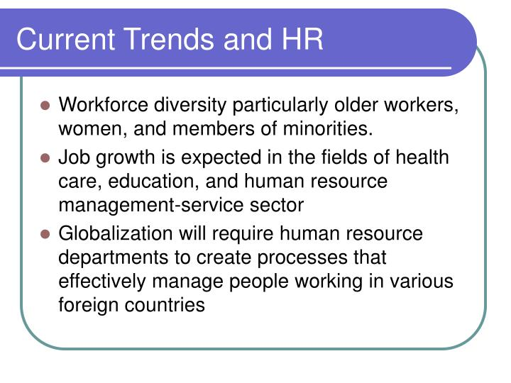 Current Trends and HR
