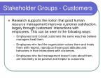 stakeholder groups customers