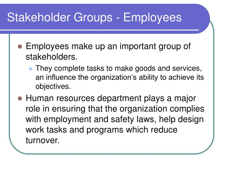 Stakeholder Groups - Employees