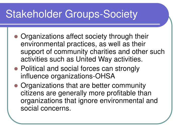 Stakeholder Groups-Society