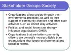 stakeholder groups society
