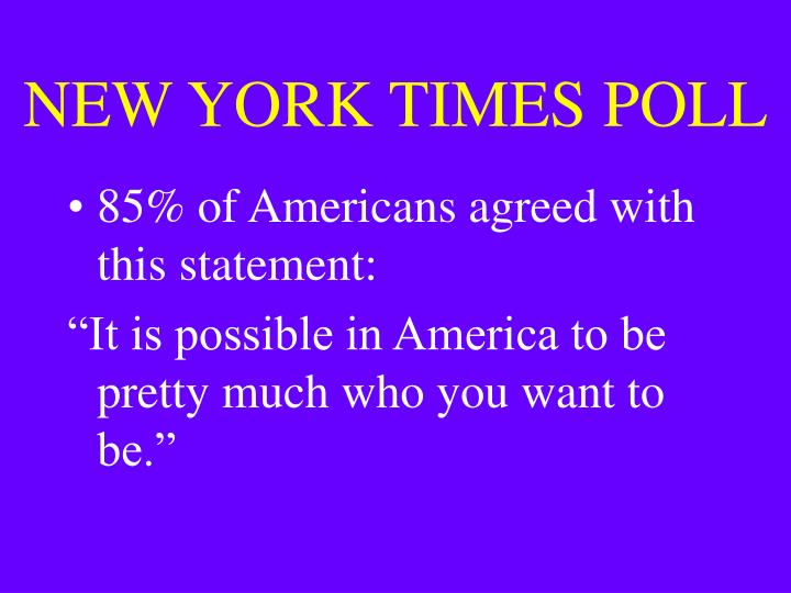 NEW YORK TIMES POLL