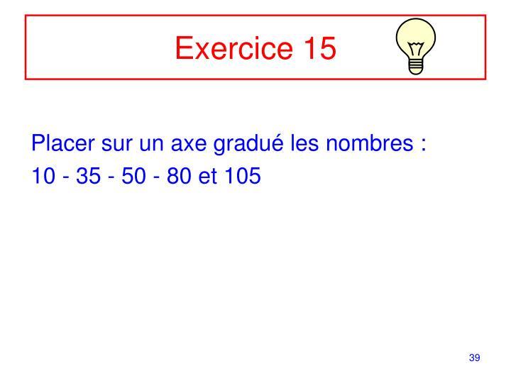 Exercice 15