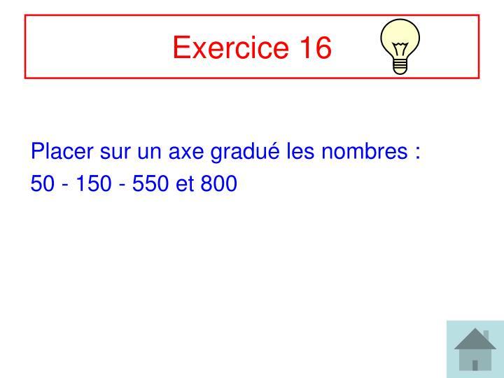 Exercice 16