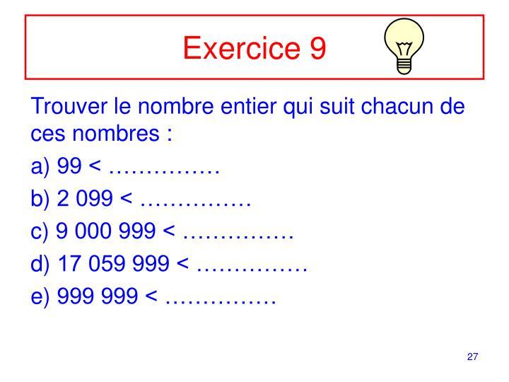 Exercice 9