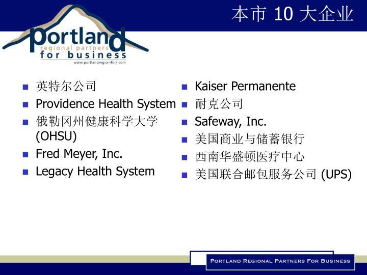 本市 10 大企业