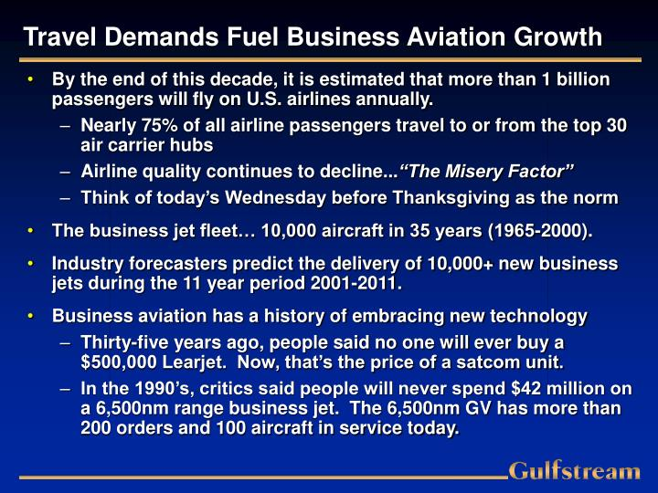 Travel demands fuel business aviation growth