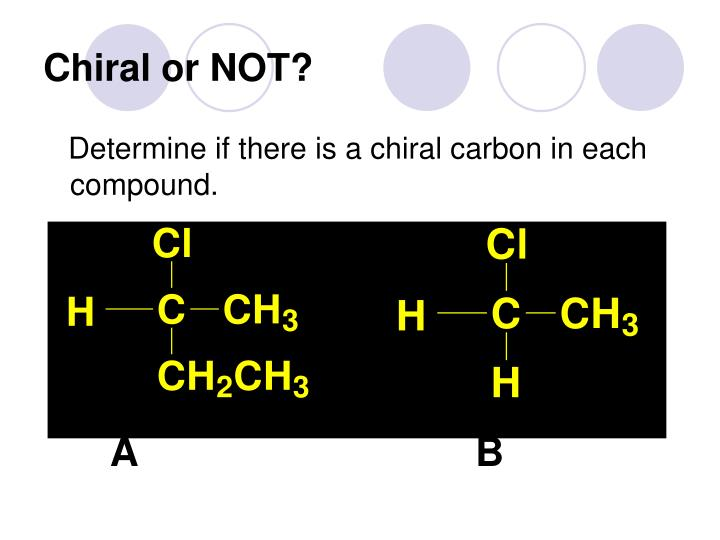 Chiral or NOT?