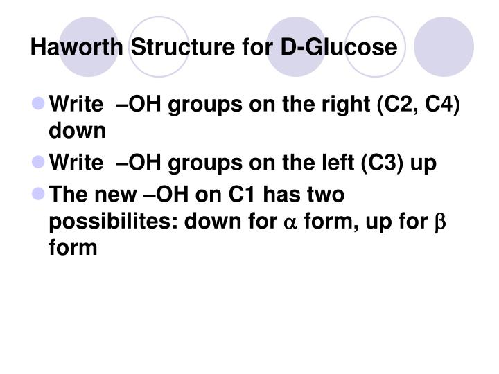 Haworth Structure for D-Glucose