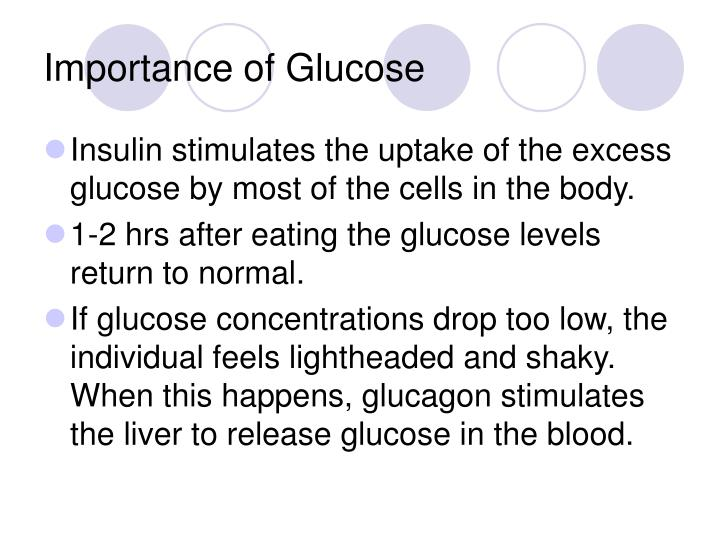 Importance of Glucose