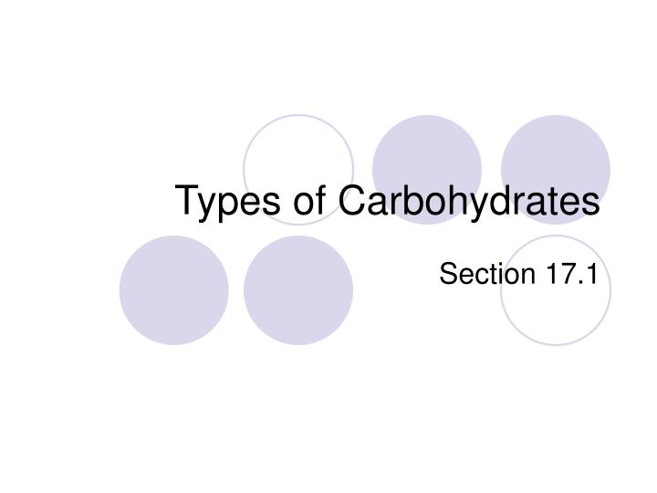 Types of carbohydrates