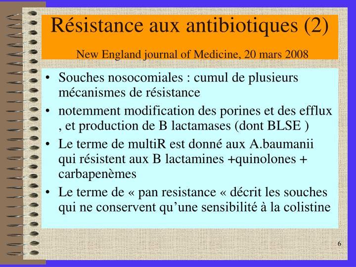 Résistance aux antibiotiques (2)