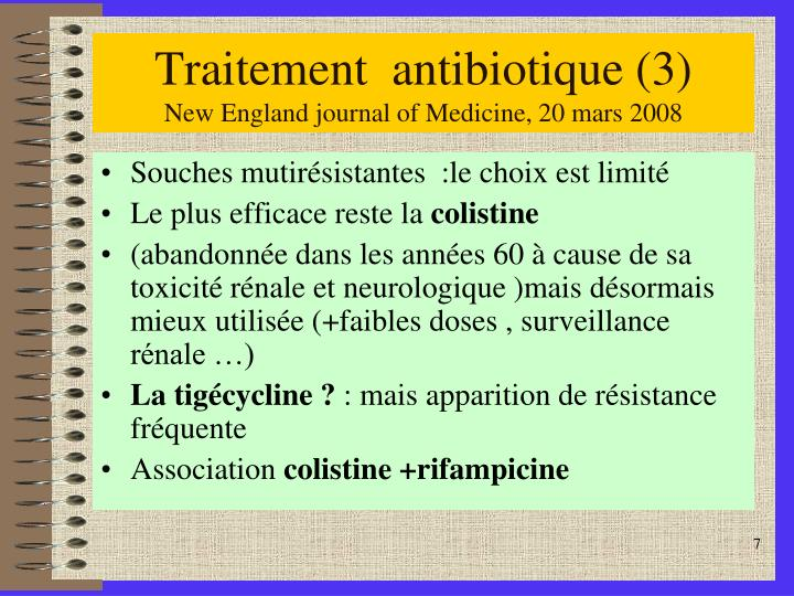 Traitement  antibiotique (3)
