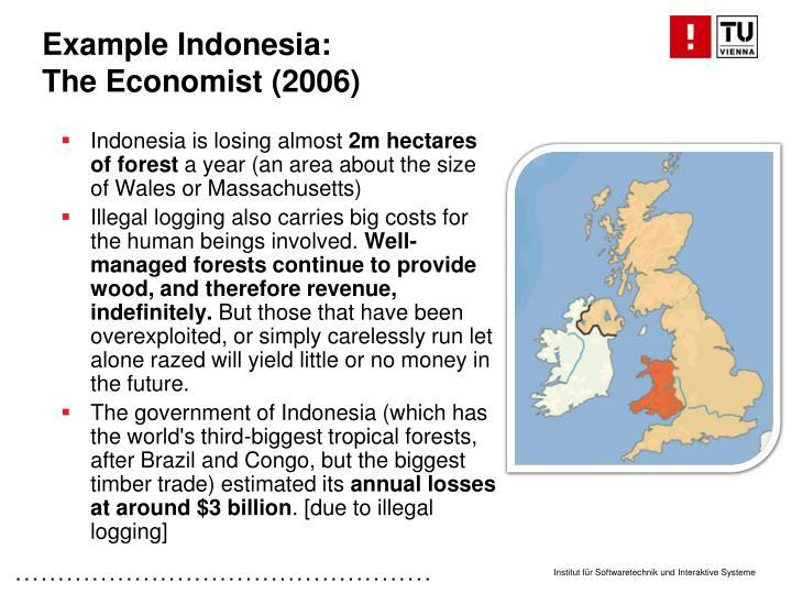 Example Indonesia: