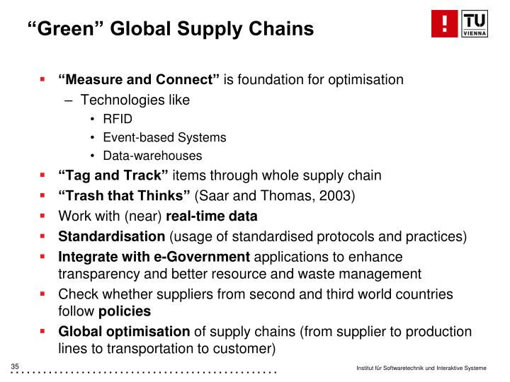 """Green"" Global Supply Chains"