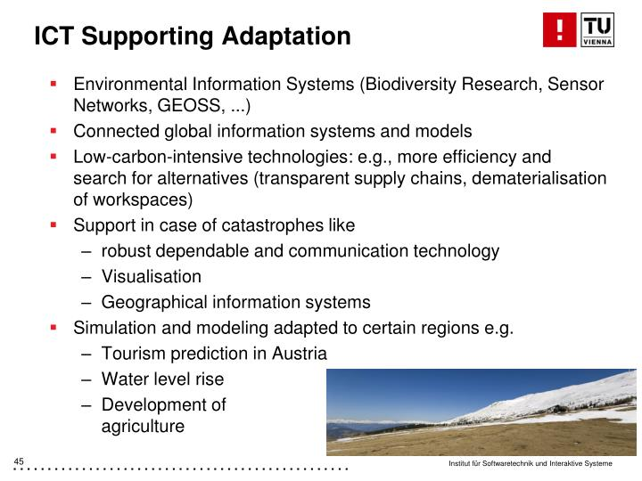 ICT Supporting Adaptation