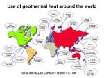 use of geothermal heat around the world