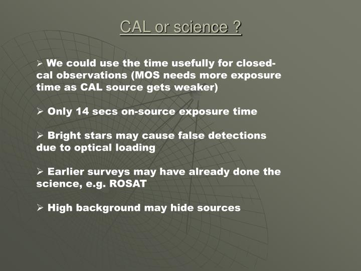 Cal or science