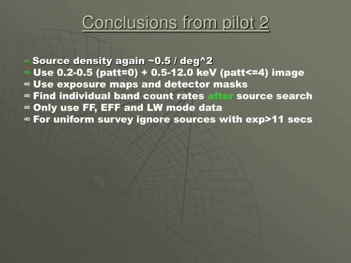 Conclusions from pilot 2
