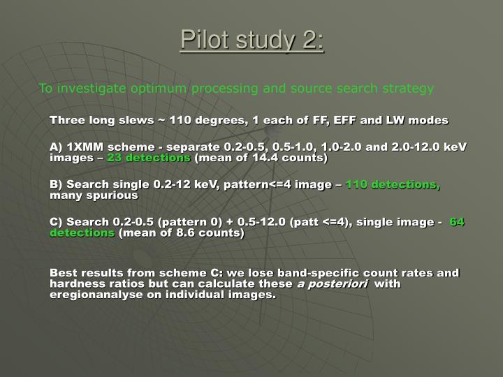 Pilot study 2: