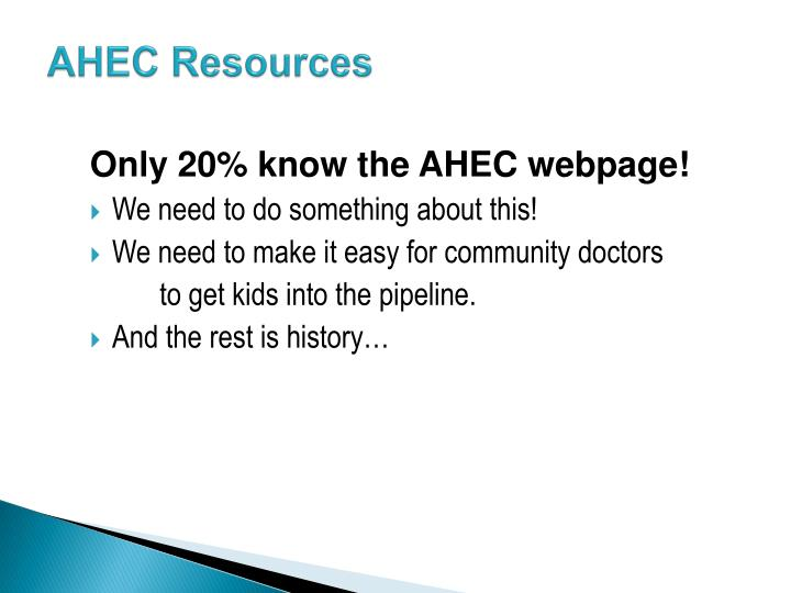 AHEC Resources