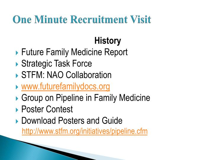One minute recruitment visit1