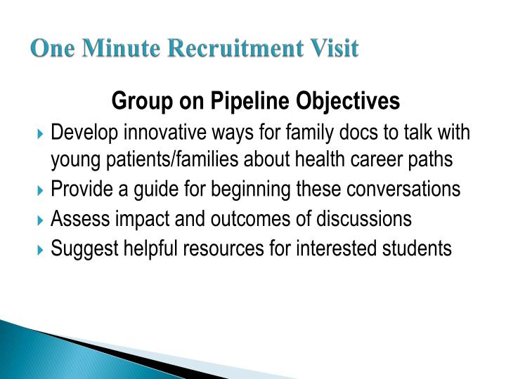 One minute recruitment visit2