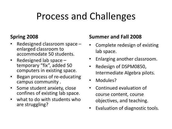 Process and Challenges