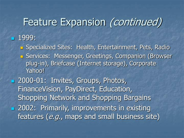 Feature Expansion