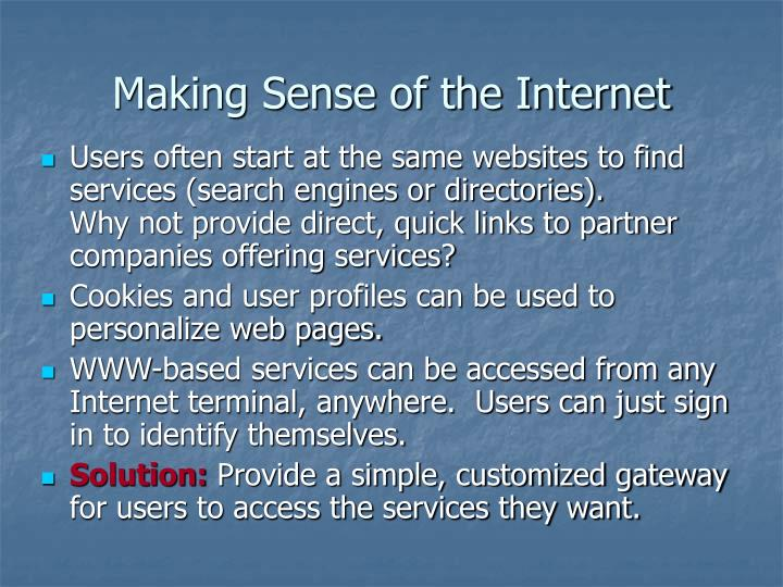 Making sense of the internet