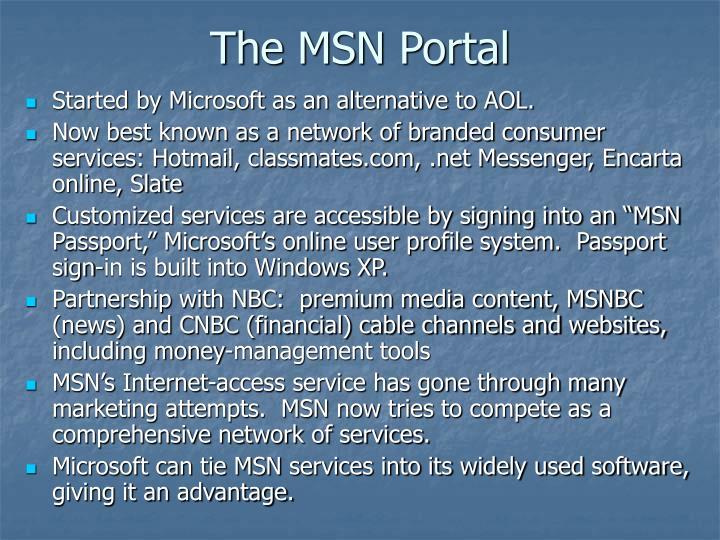 The MSN Portal