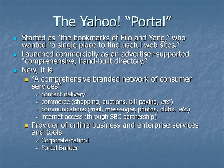 "The Yahoo! ""Portal"""