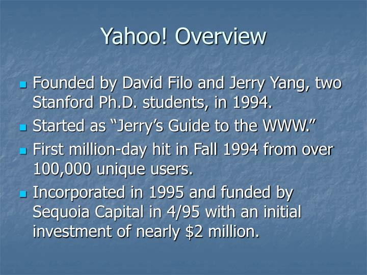 Yahoo! Overview