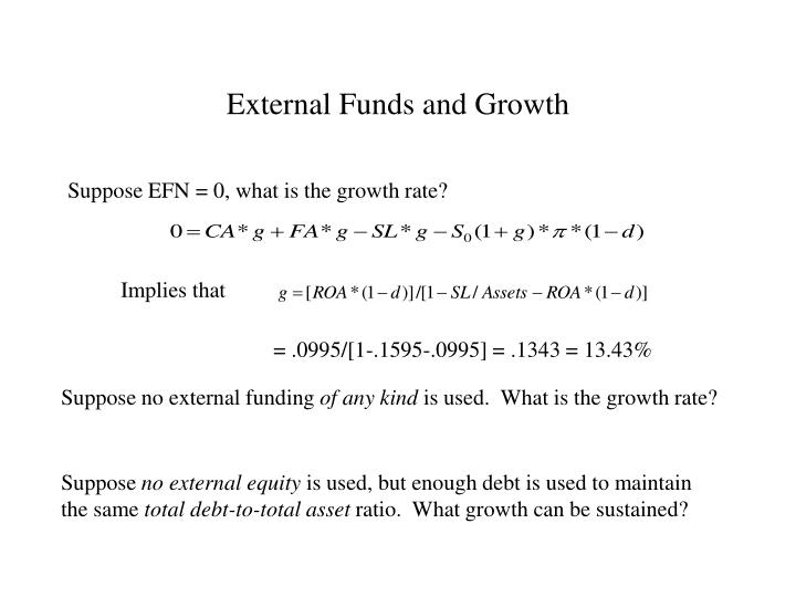 External Funds and Growth