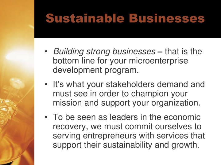 Sustainable Businesses
