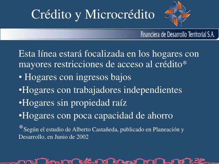 Crédito y Microcrédito