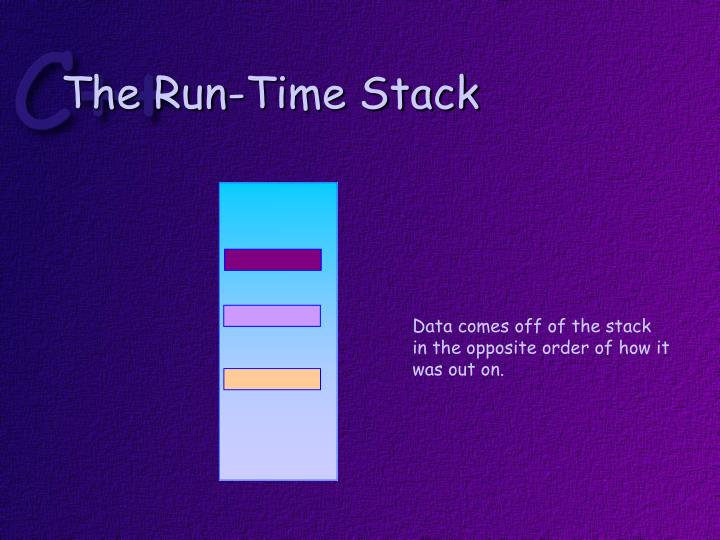 The Run-Time Stack