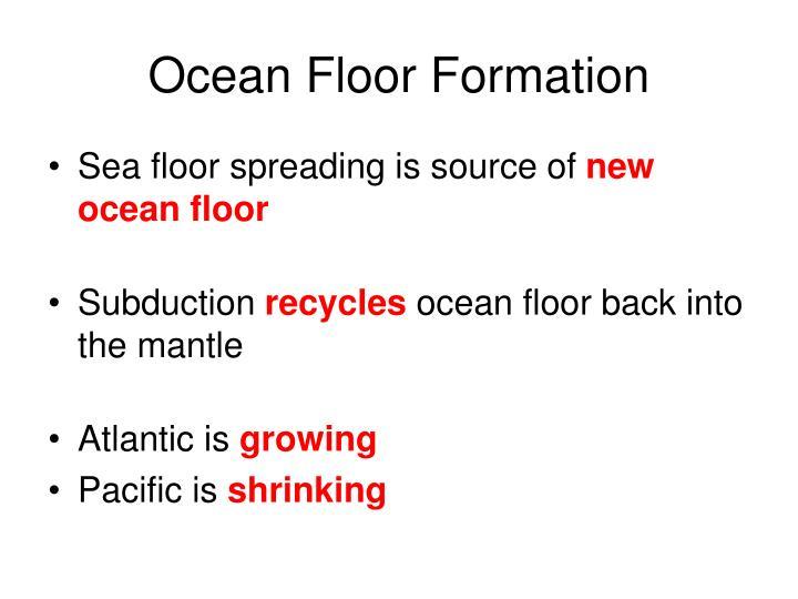 Ocean Floor Formation