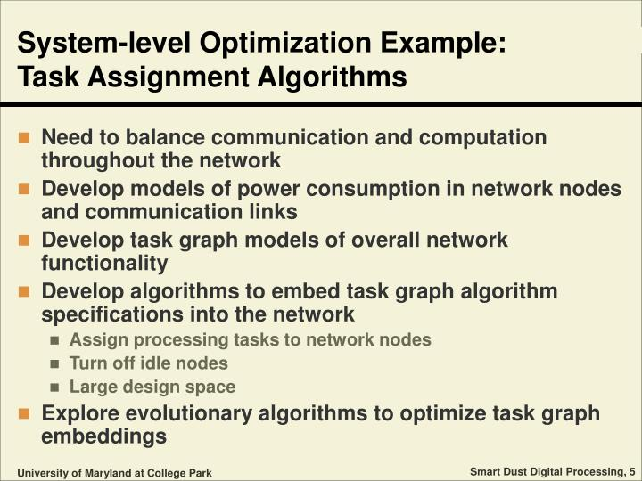 System-level Optimization Example: