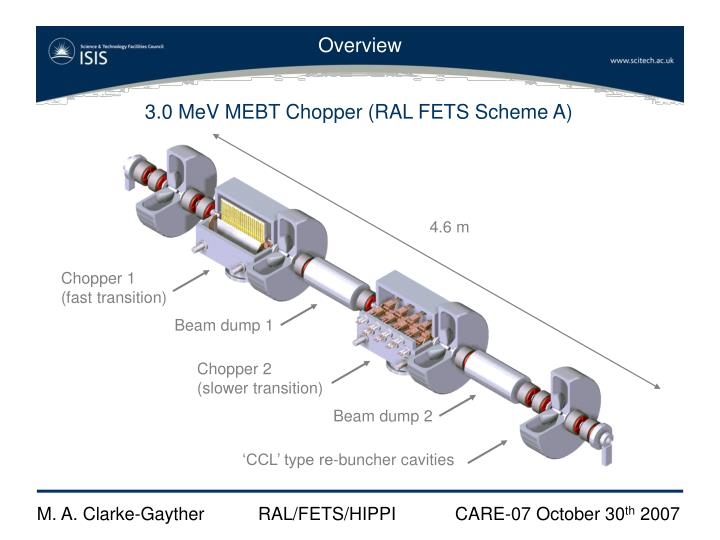 3.0 MeV MEBT Chopper (RAL FETS Scheme A)