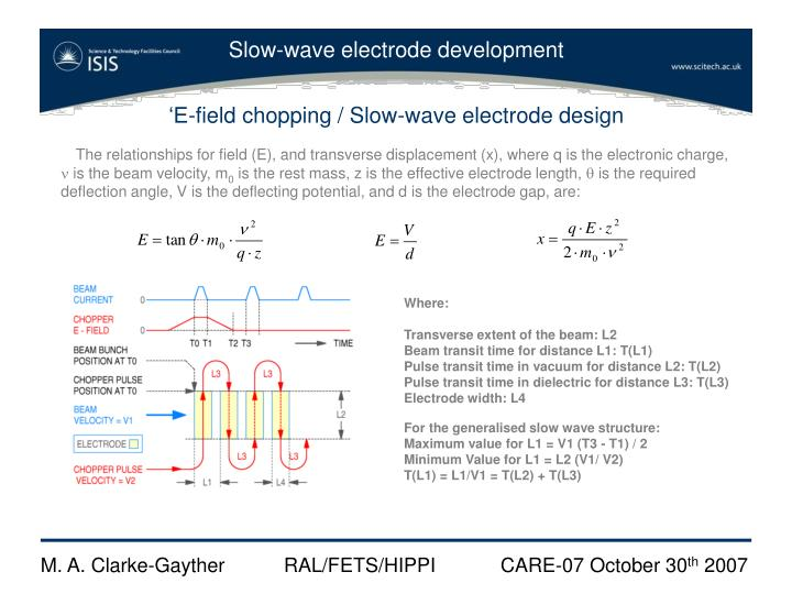 'E-field chopping / Slow-wave electrode design