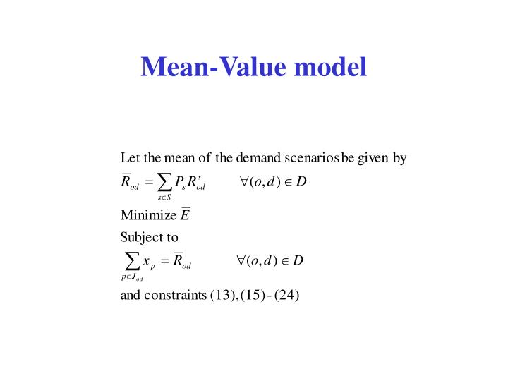 Mean-Value model