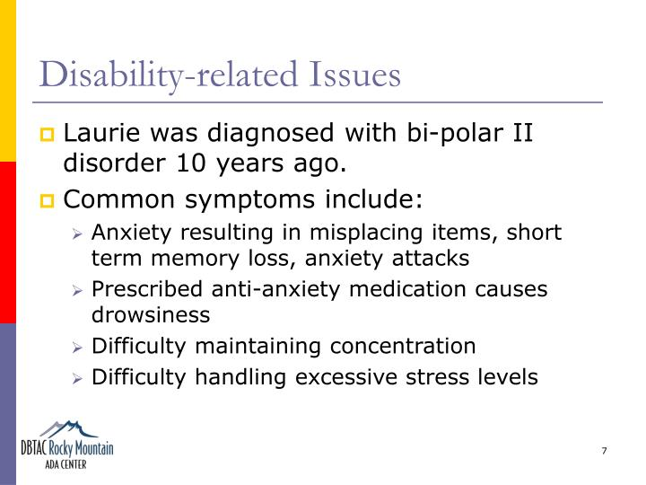 Disability-related Issues