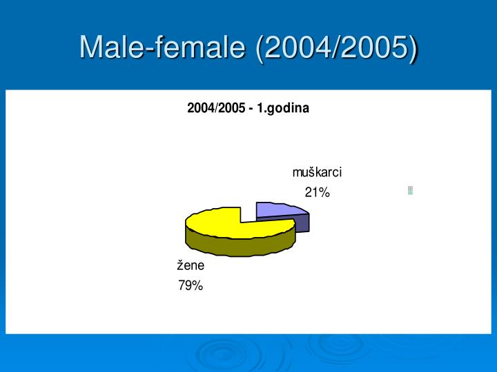 Male-female (2004/2005)