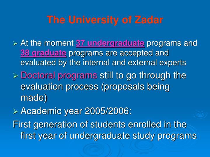The University of Zadar